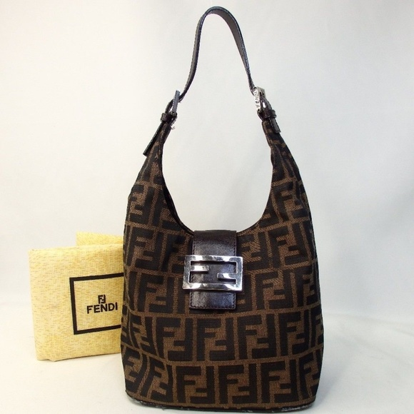 1e5b8b793e3f get authentic fendi zucca mamma bucket shoulder bag 42d88 ea2d0
